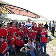 Seis escuelas y más de 500 Niños para recibir a Papalotzin - Foto Luis Miranda