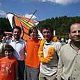Hector Slim, Marcela y Omar Vidal festejando con Vico y Papalotzin - Foto Luis Miranda