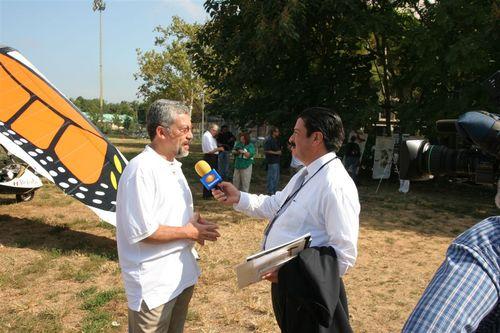 Carlos Galindo con la Prensa