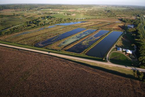 Lawrence, Kansas, estanques de riego - Foto Luis Miranda