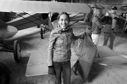 Foto de los primeros días de la aviación - Foto Luis Miranda