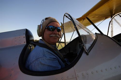 Roger Freeman el Artista constructor de estos hermosos Aviones - Foto Vico Gutiérrez
