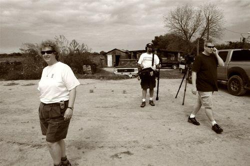 Key Millan y su equipo de producción - Foto Luis Miranda