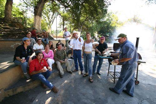 Degustando los cortes norteños - Foto Vico Gutiérrez