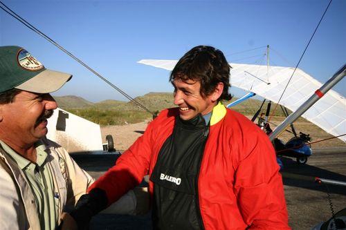 Luis bajando de su primer solo - Foto Vico Gutiérrez