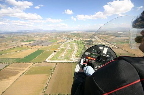 El Giro y Papalotzin sobre Celaya - Foto Vico Gutiérrez