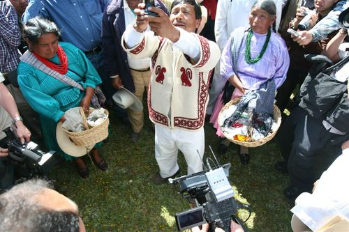 Ceremonia muy emotiva por los Mazahuas