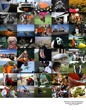 Momentos y Personas Relevantes Durante el Viaje de Papalotzin - Montaje Luis Miranda
