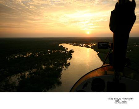 El Río Bravo, Frontera de Estados Unidos y México - Foto Vico Gutiérrez