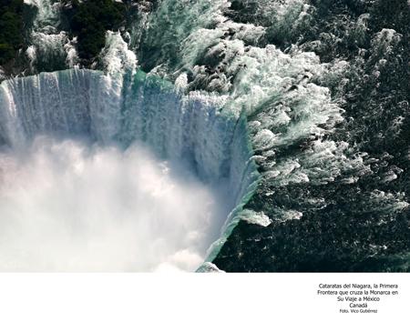 Cataratas del Niágara, La Primera Frontera que Cruza La Monarca en su Viaje - Foto Vico Gutiérrez